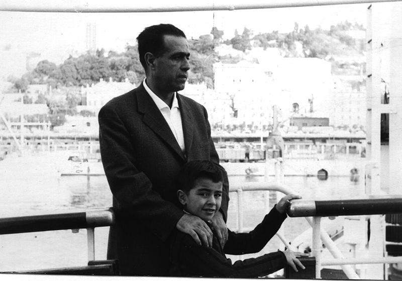 Con il figlio Pietro
